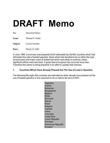 memo drafts