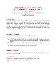 ECON3049: Econometrics I - Uwi.edu