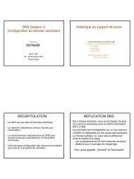 DNS Session 3: Configuration du serveur autoritaire Historique du ...