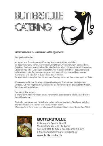 BUTTERSTULLE CATERING