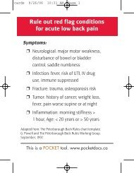 Rule Out Red Flag Conditions for Acute Low Back Pain
