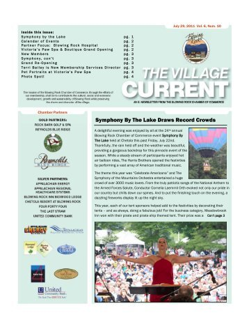 Symphony By The Lake Draws Record Crowds - Blowing Rock ...