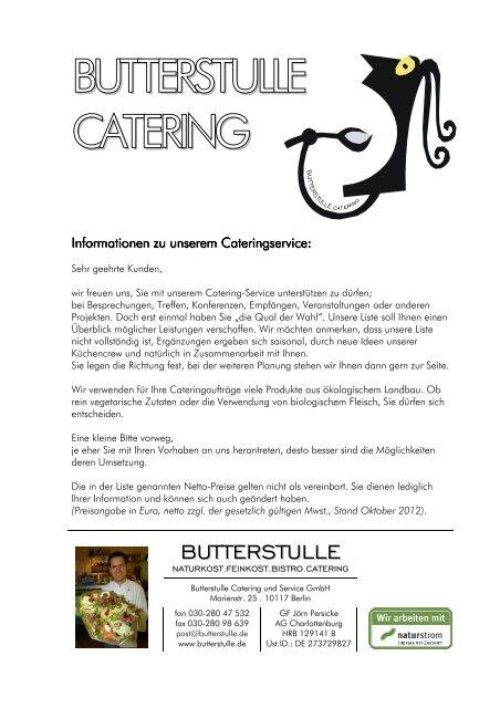 Vorlage Angebot Catering Stand Okt 2012 Butterstulle