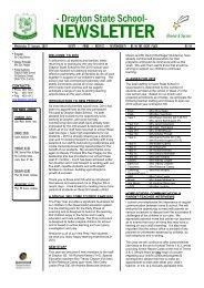 ThT Wednesday 27 January, 2010 SAFETY - Drayton State School