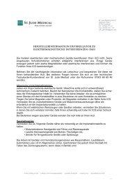 Briefvorlage deutsch auf Geschäftspapier - St. Jude Medical