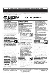 Owners Manual - Power Equipment Direct