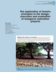The application of forestry principles to the design, execution and ...