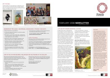 Friends of the Gallery newsletter - February 2008 - Auckland Art ...