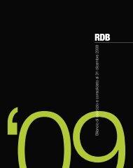 '09Bilancio di esercizio e consolidato al 31 dicembre 2009 - Rdb