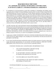 Waiver of Liability and Hold Harmless Agreement - M E Rinker Sr ...