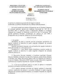 Ordin nr. 253 din 20.06.08 cu privire la contractarea prestatorilor de ...