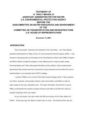 testimony of g. tracy mehan, iii assistant ... - Clean My Water