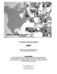 1 Quarter Interim Report - McGraw-Hill Ryerson
