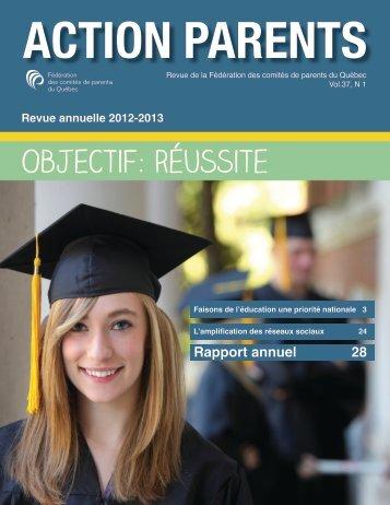Rapport annuel 2012-2013 - Fédération des comités de parents du ...