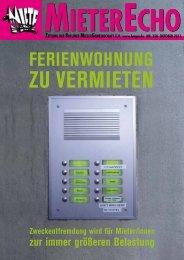 MieterEcho Nr.350 Oktober 2011 - Berliner MieterGemeinschaft eV