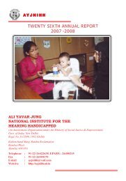 Annual Report - Ali Yavar Jung National Institute for the Hearing ...