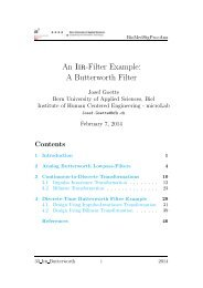 An Iir-Filter Example: A Butterworth Filter - microLab