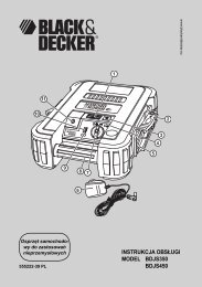 instrukcja obsługi model bdjs350 bdjs450 - Service - Black & Decker