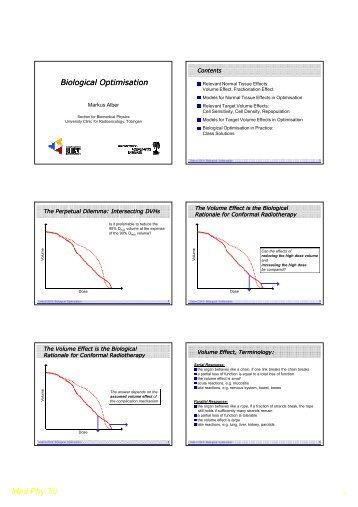 Physical dose & biological optimisation