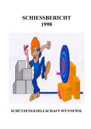 Schiessbericht 1998 - Schützengesellschaft Wünnewil