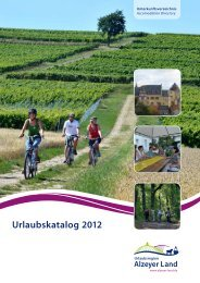 Urlaubskatalog 2012 (PDF) - Urlaubsregion Alzeyer Land