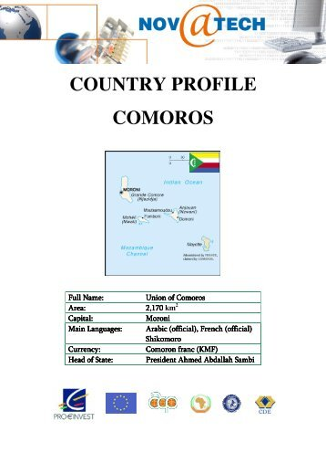 COUNTRY PROFILE COMOROS - BK Consultants