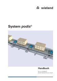 Systemhandbuch podis - Wieland Electric