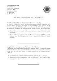 9. ¨Ubung zur Bioinformatik I, WS 2011/12 - Universität des ...