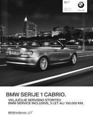 Prenos podatkov Trenutne cene za BMW Serija 1 Cabrio (PDF, 242k).