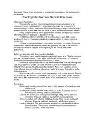 Electrophillic Aromatic Substituion