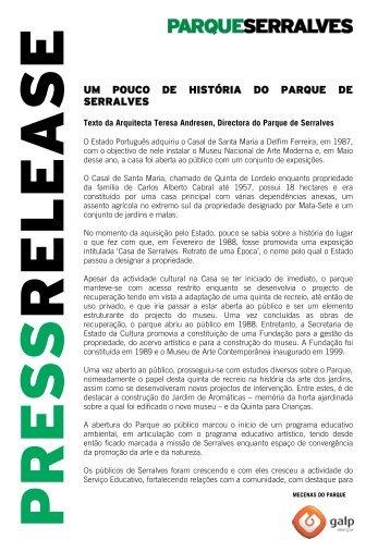 um pouco de história do parque de serralves - Fundação de Serralves