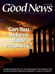 Good News Magazine July-Aug. 2003 - Noah's Ark & Early Man ...