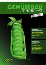 Gemüsebau Ausgabe 5 / 2012 - eppenberger-media gmbh