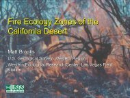 Fire Ecology Zones of the California Desert - Desert Managers Group