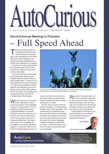 – Full Speed Ahead - Autocure