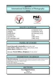 3rd UPI International Exhibition of Photography 2013 ... - Mafosz