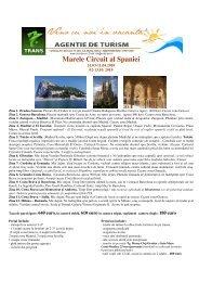 GALATEEA Marele Circuit al Spaniei 31 martie, 2 ... - MC Turism