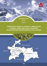 tajikistan's road to stability - UNDP in Tajikistan