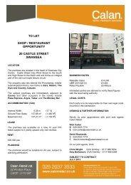 Swansea, 20 Castle Street - Calan - Retail Property Advisors