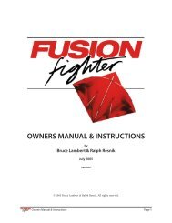 Fusion Fighter Kite flight and tuning manual. - fighterkitecentral.com