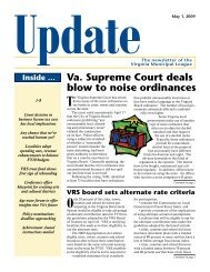 May 1, 2009 - the Virginia Municipal League