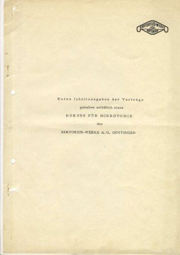Mikrotom Vortrag Sartorius - Mikroskopfreunde-Nordhessen