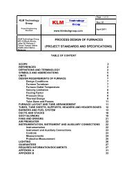process design of furnaces (project standards and specifications)