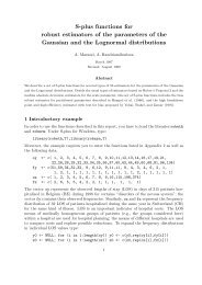 S-plus functions for robust estimators of the parameters of ... - IUMSP