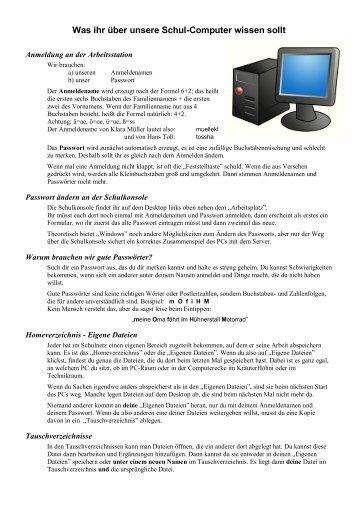 Wissen über unsere PCs