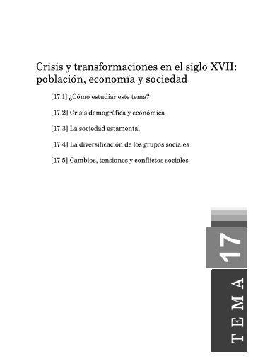 Crisis y transformaciones en el siglo XVII: población, economía y ...