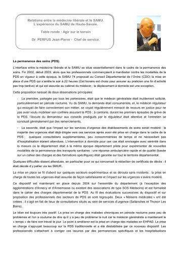Dr Jean-Pierre Perfus - L'Union Régionale des Professionnels de ...