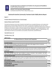 Dartmouth Assertive Community Treatment Scale Fidelity Review ...