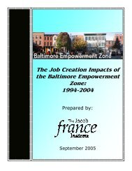 The Job Creation Impacts of the Baltimore Empowerment Zone 1994 ...