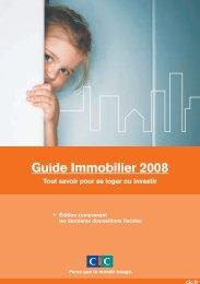 Télécharger le Guide immobilier 2008 - CIC